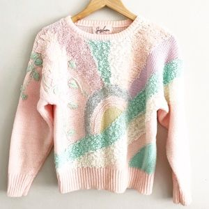 Vintage Fairy Kei Pastel Sunshine Sweater